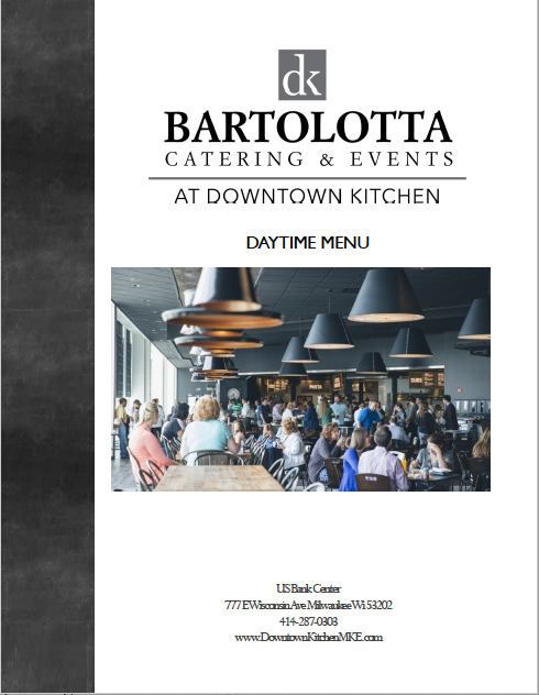 Downtown Kitchen Daytime Menu