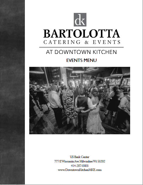 Downtown Kitchen Event Menu